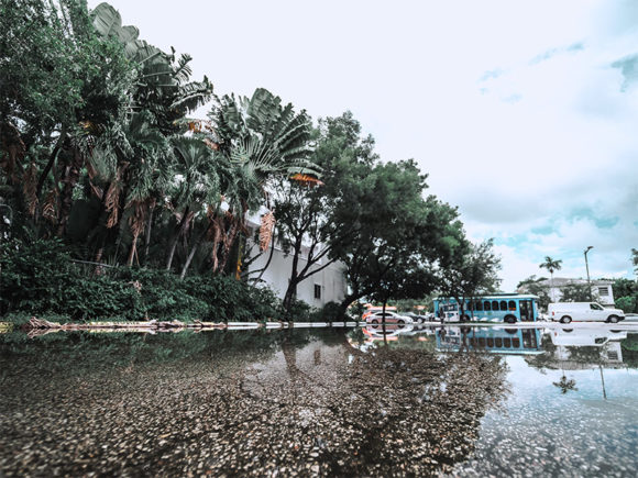 Miami Beach, FL, August 2019, during Hurricane Dorian